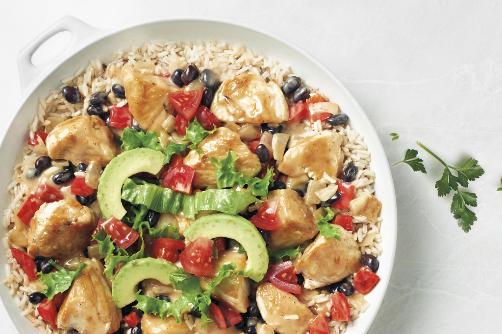 Chicken & Brown Rice Taco Bowl