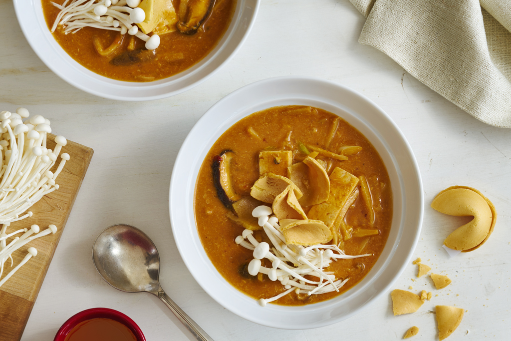 Creamy Tomato Hot and Sour Soup