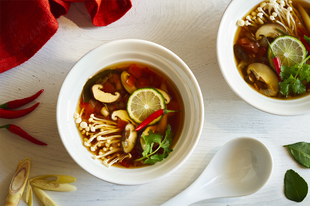 Vegetarian Tom Yum Pho