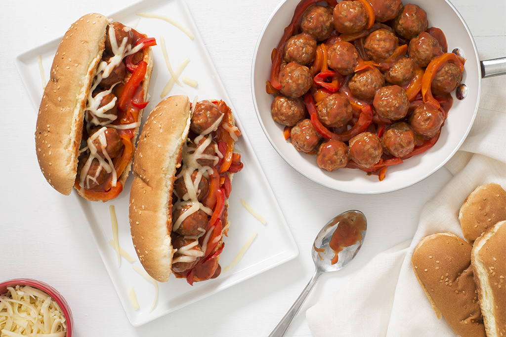 Saucy Meatball Subs