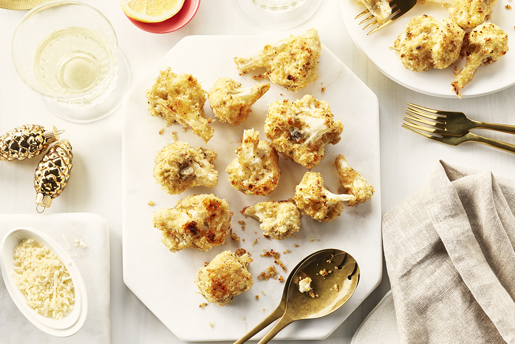 Crunchy Swiss Cauliflower Bites
