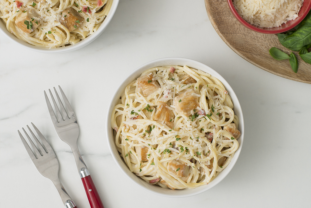 Easy Chicken Carbonara