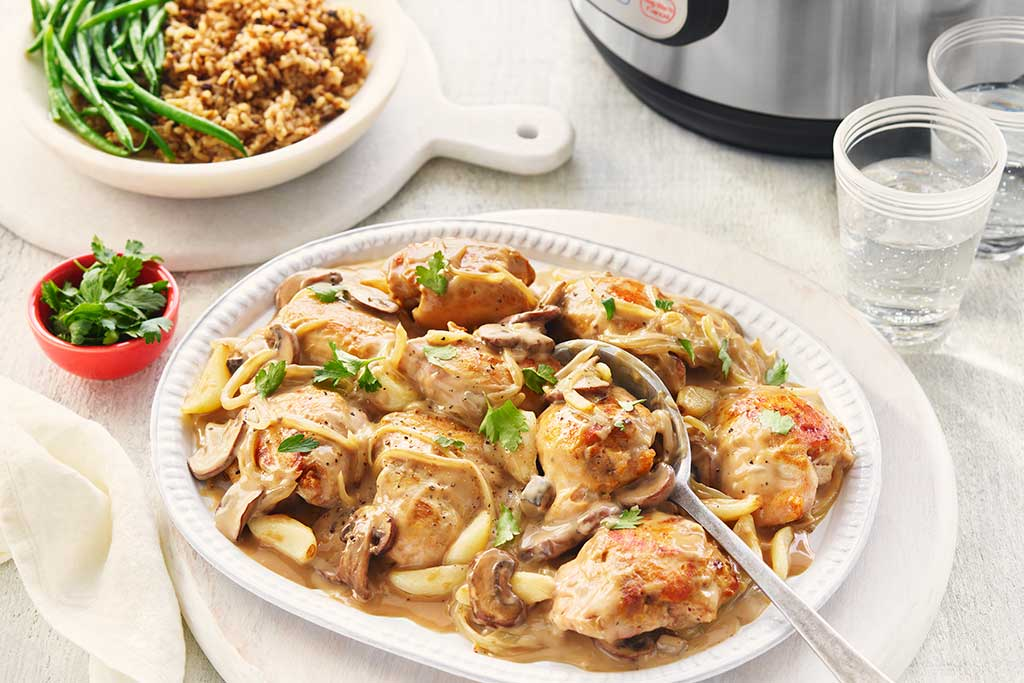 Instant Pot ® Chicken with Garlic Sauce