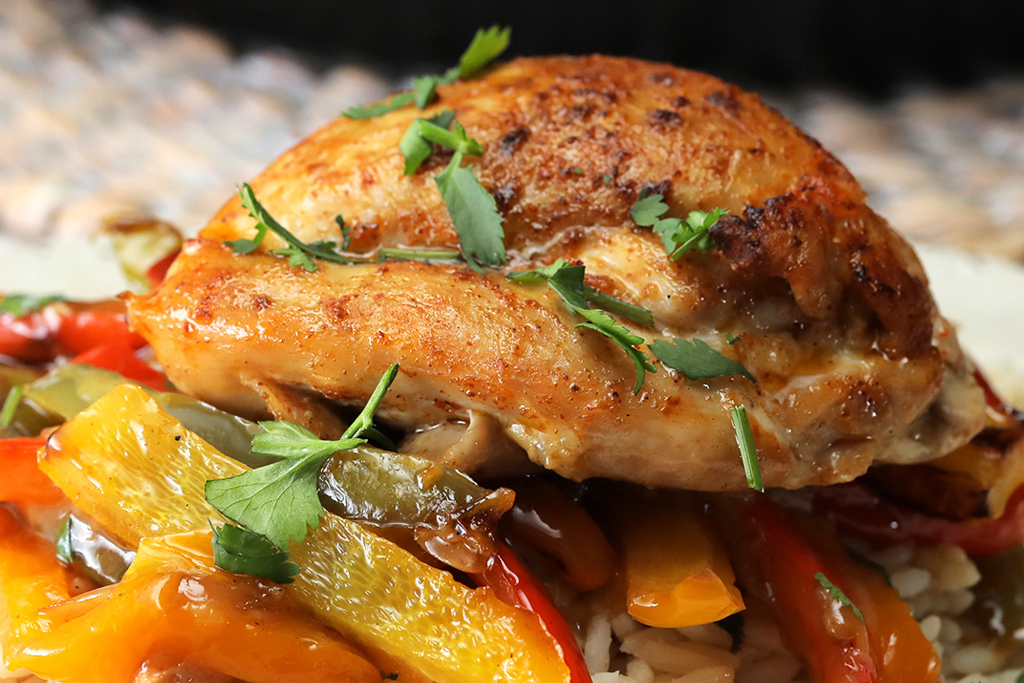 Creamy Skillet Chicken and Peppers