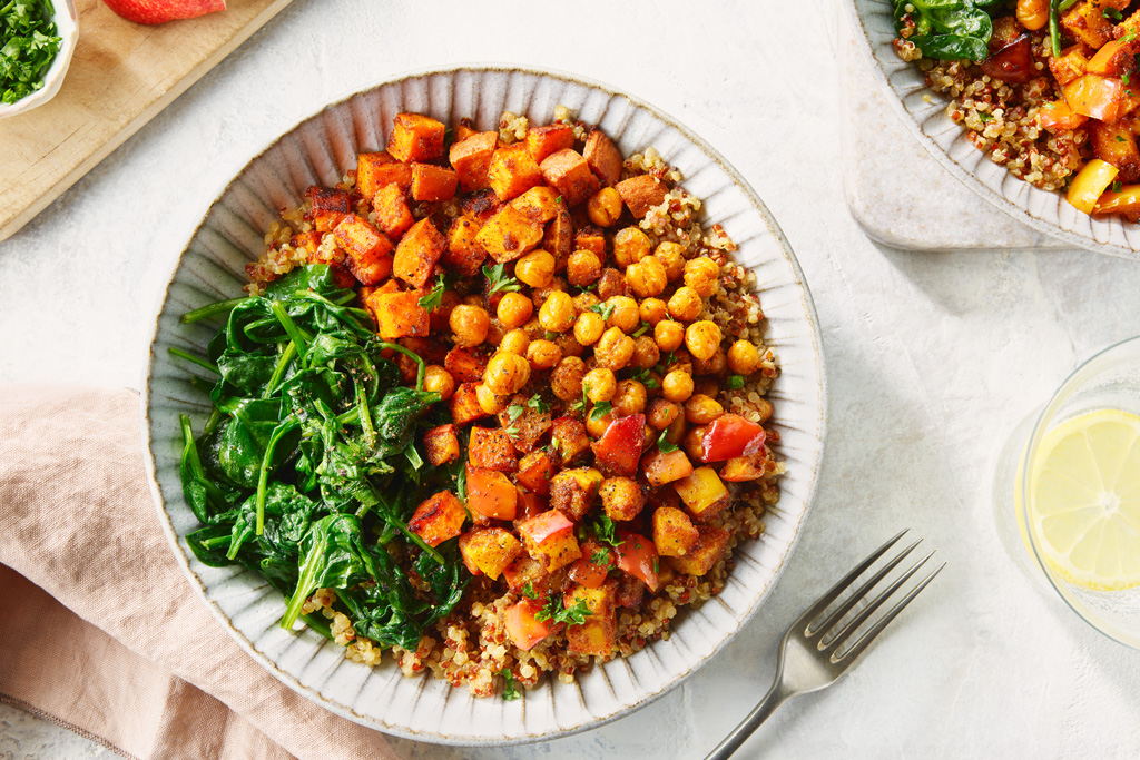 Roasted Chickpea, Sweet Potato and Apple Grain