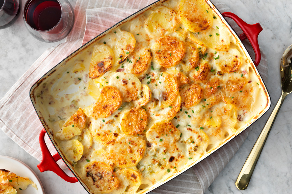 Bacon Parmesan Scalloped Potatoes