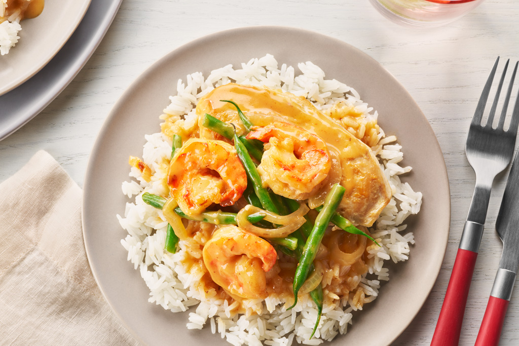 Chicken and Shrimp with Sriracha Sauce