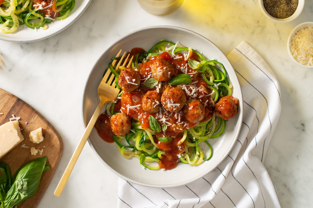 Turkey Meatballs with Zucchini Noodles