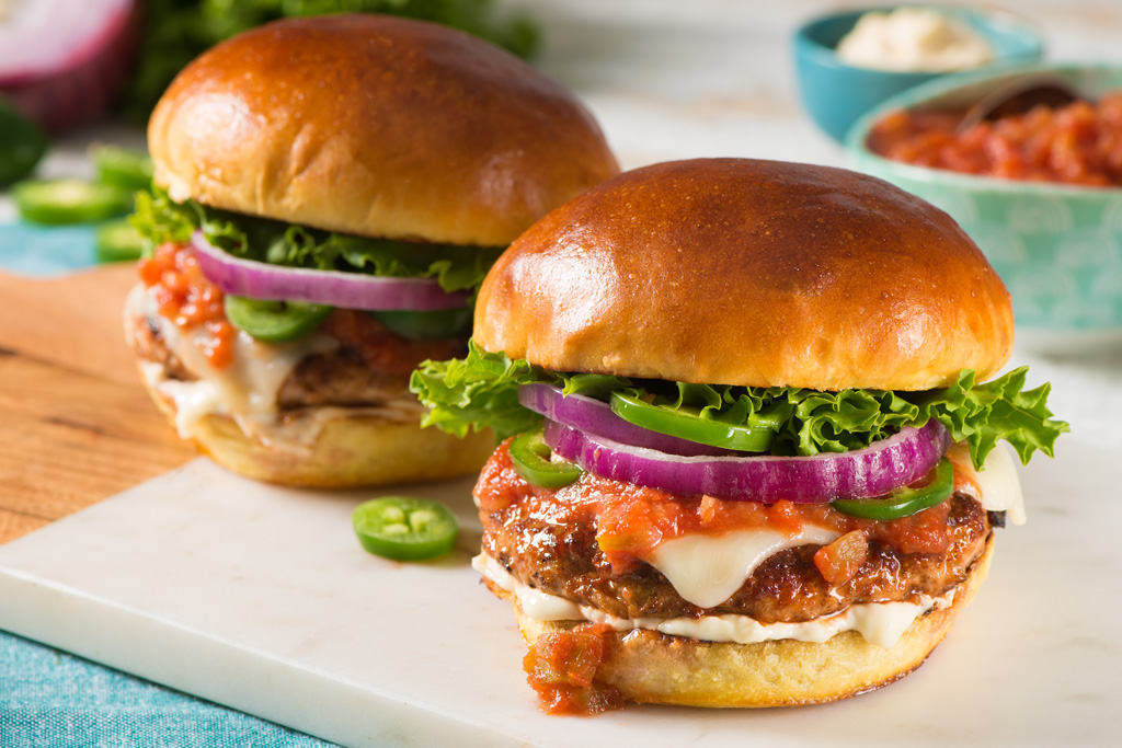 Spicy Pork Burgers