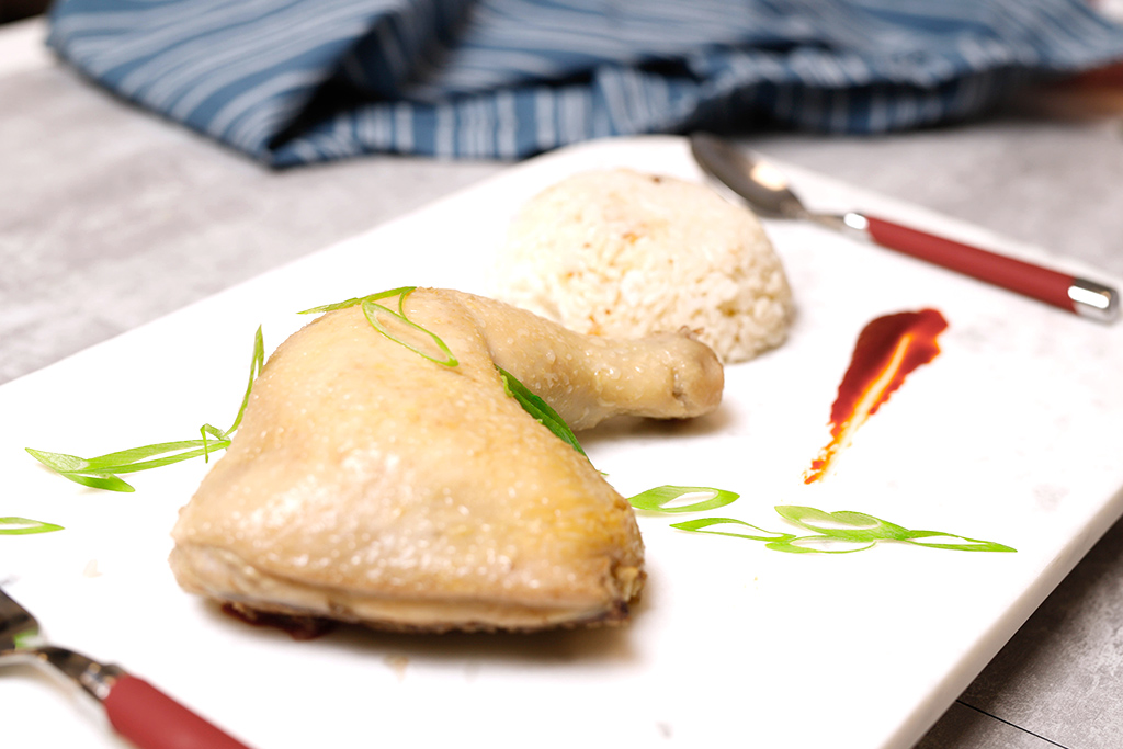 Poached Chicken with Pandan and Ginger
