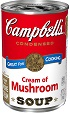 (10 1/2 ounces) Campbell's® Condensed Cream of Mushroom Soup(Regular  or  98% Fat Free)