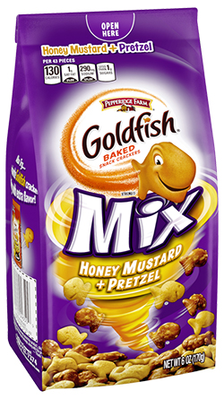 Pepperidge Farm® <i>Goldfish</i>® Mix Honey Mustard + Pretzel Baked Snack Crackers