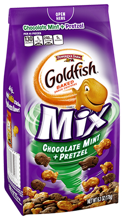 (6.3 ounces) Pepperidge Farm® Goldfish® Chocolate Mint + Pretzel Mix