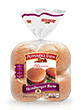 Pepperidge Farm® Soft White Hamburger Buns, split