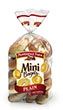 (17 ounces) Pepperidge Farm® Plain Mini Bagels, split