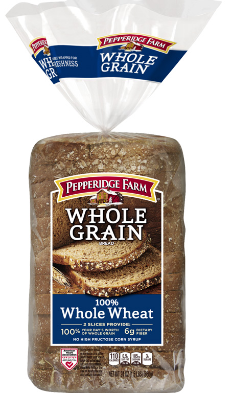 Pepperidge Farm® Whole Grain 100% Whole Wheat Bread, toasted or grilled and cut diagonally into quarters