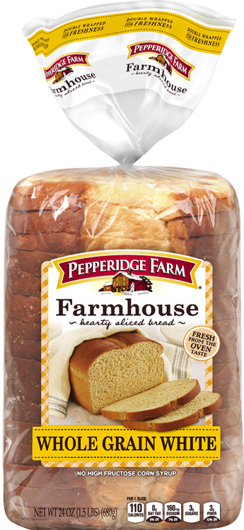 Pepperidge Farm® Farmhouse™ Whole Grain White Bread, crusts removed