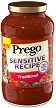 (23.5 ounces) Prego® Traditional Sensitive Recipe Italian Sauce (673g)