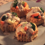 Creamy Vegetables in Pastry Shells