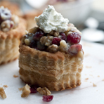 Cranberry-Walnut Crostadas