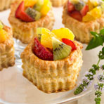 Pastry Cups with Fruit & Orange Cream