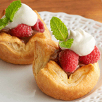 Chocolate Raspberry Pastry Tartlets