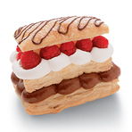 Chocolate Mousse Napoleons with Raspberries & Cream
