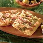 Bacon and Clam White Pizza