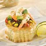 Roasted Corn, Tomato, Black Bean and Avocado Tarts