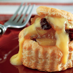Slow-Cooked Apple Cherry Pastries with Vanilla Cream