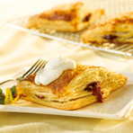 Sparkling Raspberry Turnovers with Lemon Crème Fraîche