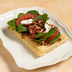 BLT Tartines with Caramelized Shallots