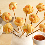 Citrus Salmon Lollipuffs
