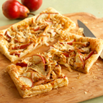 Chicken, Asiago & Pear Tart
