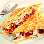 Puff Pastry Chicken & Caponata Sandwiches