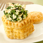 Chicken, Spinach & Feta Shells
