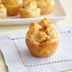 Candied Walnut-Camembert Puff Tartlets