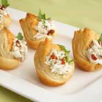 Fancy Crab-Filled Crown Tartlets
