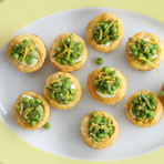 Pea, Goat Cheese & Fresh Mint Tartlets
