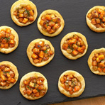 Butternut Squash & Caramelized Onion Mini Pizzas