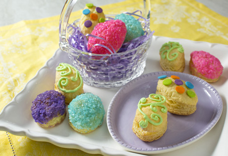 Easter Egg Marshmallow Crème Puffs