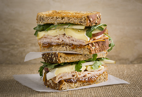 Turkey Sandwich with Brie, Fig Jam & Arugula