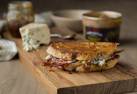 Blue Cheese, Bacon & Fig Grilled Cheese