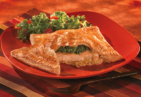 Chicken Florentine Wrapped in Pastry
