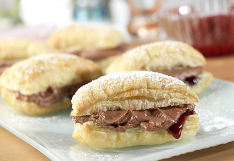Chocolate Raspberry Mini-Napoleons
