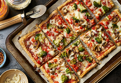 Puff Pastry Vegetable Pizza