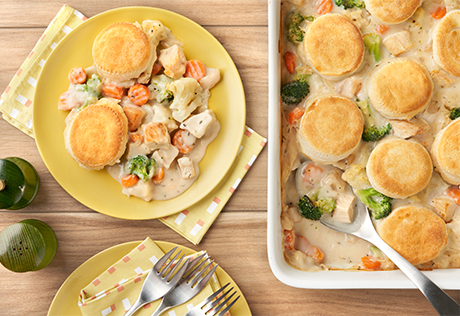 Biscuit Topped Chicken Pot Pie Recipe Campbell S Kitchen