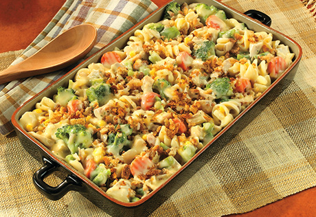 Chicken Pasta Amp Vegetable Casserole