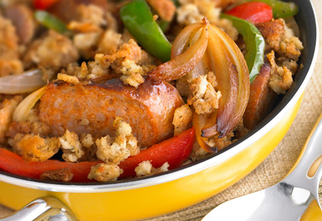 Skillet Sausage and Stuffing