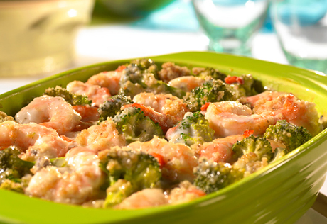 Shrimp Stuffing Au Gratin